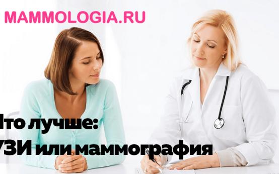 Что лучше: УЗИ или маммография молочной железы